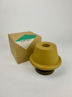 Ettore Sottsass Ettore Sottsass Senape Vase Yellow Ochre Umber  - 1375376