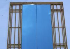 Ettore Sottsass Ettore Sottsass Style Oak And Blue Glass Two Piece Mirror - 1528278