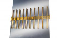 Ettore Sottsass Ettore Sottsass Wall Mirror Manufactured by Santambrogio and De Berti - 1002411