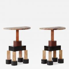 Ettore Sottsass Pair of Demistella consoles by Ettore Sottsass Up Up Italy c 1990 - 1210486