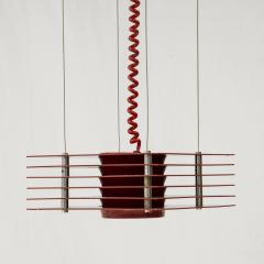 Ettore Sottsass Pending lights in red lacquered steel by Ettore Sottsass circa 1980 - 961772