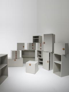 Ettore Sottsass Set of 15 Kubirolo Shelving System by Ettore Sottsass for Poltronova - 1017166
