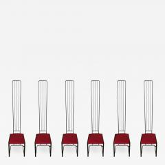 Ettore Sottsass Set of Six Postmodern High Back Dining Chairs - 1627508