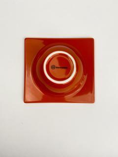 Ettore Sottsass Sottsass Squared Circle Bowl Red - 1359582