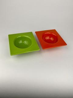 Ettore Sottsass Sottsass Squared Circle Bowl Red - 1359585