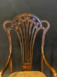 Eug ne Gaillard An Exceptional and Large French Mahogany Art Nouveau Arm Chair Eugene Gaillard - 1430852