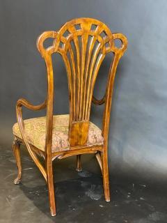 Eug ne Gaillard An Exceptional and Large French Mahogany Art Nouveau Arm Chair Eugene Gaillard - 1430853