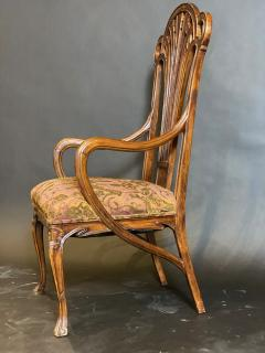 Eug ne Gaillard An Exceptional and Large French Mahogany Art Nouveau Arm Chair Eugene Gaillard - 1430854