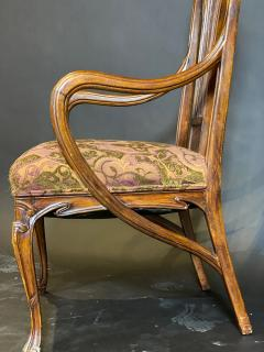 Eug ne Gaillard An Exceptional and Large French Mahogany Art Nouveau Arm Chair Eugene Gaillard - 1430856