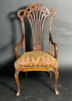 Eug ne Gaillard An Exceptional and Large French Mahogany Art Nouveau Arm Chair Eugene Gaillard - 1430859