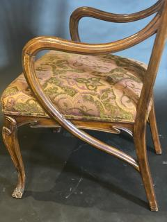 Eug ne Gaillard An Exceptional and Large French Mahogany Art Nouveau Arm Chair Eugene Gaillard - 1430860