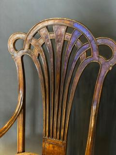 Eug ne Gaillard An Exceptional and Large French Mahogany Art Nouveau Arm Chair Eugene Gaillard - 1430861