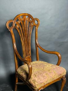 Eug ne Gaillard An Exceptional and Large French Mahogany Art Nouveau Arm Chair Eugene Gaillard - 1430863
