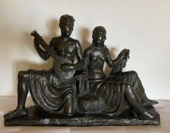 Eugen Mayer Fassold An Art Deco Figural Group of a Singing Couple - 1338629