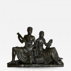 Eugen Mayer Fassold An Art Deco Figural Group of a Singing Couple - 1339778