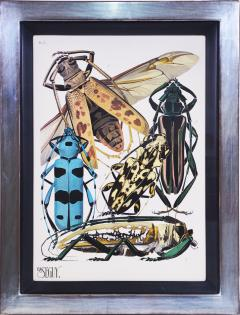 Eugene Alain Seguy Seguy A set of Eight Insects - 1059290