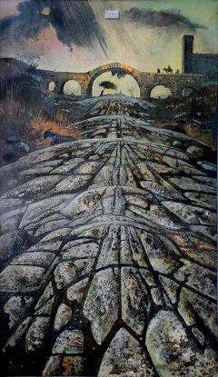 Eugene Berman Una Via Romana Antica con Temporale Distante - 242165