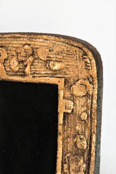 Eugene Fidler Miroir Empreintes Glazed Ceramic Mirror - 894131