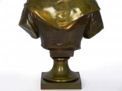 Eugene Laurent French Antique Bronze Sculpture Bust of Girl by Eugene Laurent Susse Freres - 1119698