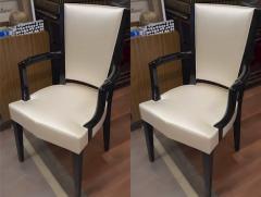 Eugene Printz Eugene Printz Documented Pair of Arm Chairs Fully Restored in Satin Silk - 694286