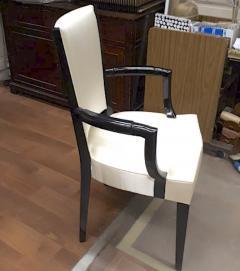 Eugene Printz Eugene Printz Documented Pair of Arm Chairs Fully Restored in Satin Silk - 694288
