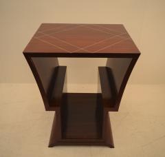 Eugene Printz Unique Art Deco Coffee Table with Decorative Inlay Attributed to Eugene Printz - 967925