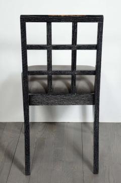 Eugene Schoen Set of Six Mid Century Modern Silver Cerused Oak Dining Chairs by Eugene Schoen - 2004901