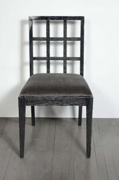 Eugene Schoen Set of Six Mid Century Modern Silver Cerused Oak Dining Chairs by Eugene Schoen - 2004916