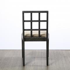 Eugene Schoen Set of Six Mid Century Modern Silver Cerused Oak Dining Chairs by Eugene Schoen - 2050188