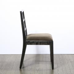 Eugene Schoen Set of Six Mid Century Modern Silver Cerused Oak Dining Chairs by Eugene Schoen - 2050210