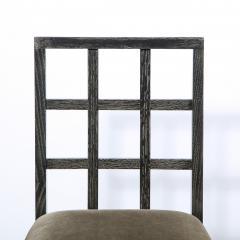 Eugene Schoen Set of Six Mid Century Modern Silver Cerused Oak Dining Chairs by Eugene Schoen - 2050273