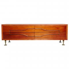 Eugenio Escudero Sublime Double Dresser Mahogany Brass by Modernist Eugenio Escudero 1950s - 1599258