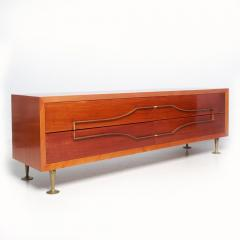 Eugenio Escudero Sublime Double Dresser Mahogany Brass by Modernist Eugenio Escudero 1950s - 1599262