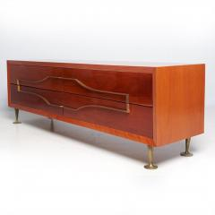 Eugenio Escudero Sublime Double Dresser Mahogany Brass by Modernist Eugenio Escudero 1950s - 1599265