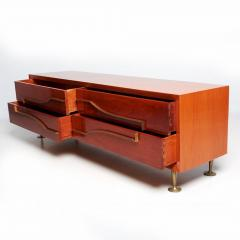 Eugenio Escudero Sublime Double Dresser Mahogany Brass by Modernist Eugenio Escudero 1950s - 1599267