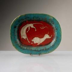 Eugenio Pattarino Italian Ceramic Art Platter by Eugenio Pattarino - 885018