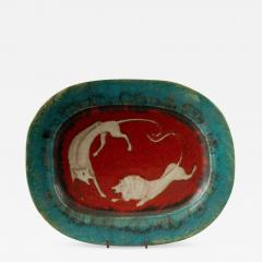Eugenio Pattarino Italian Ceramic Art Platter by Eugenio Pattarino - 885903