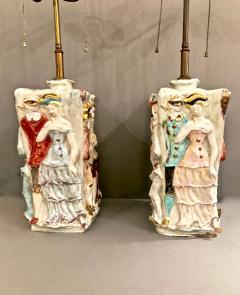 Eugenio Pattarino Pair Eugenio Pattarino Venetian Carnival Lamps - 1424922