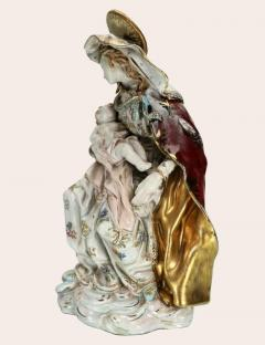 Eugenio Pattarino Prof E Pattarino Capodimonte Majolika Madonna and Child circa 1925 - 1336993