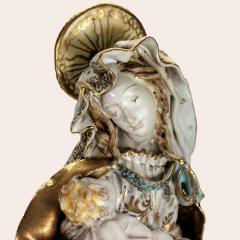 Eugenio Pattarino Prof E Pattarino Capodimonte Majolika Madonna and Child circa 1925 - 1336996