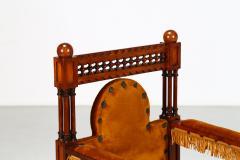 Eugenio Quarti Eugenio Quarti Armchair Trone in Italian Liberty early 19th Century - 1188699