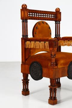 Eugenio Quarti Eugenio Quarti Armchair Trone in Italian Liberty early 19th Century - 1188700