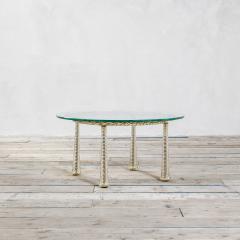 Eugenio Quarti Eugenio Quarti Coffee Table in Brass and Murano Spiral Glass 30s - 2129360