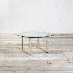Eugenio Quarti Eugenio Quarti Coffee Table in Brass and Murano Spiral Glass 30s - 2129361