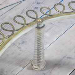Eugenio Quarti Eugenio Quarti Coffee Table in Brass and Murano Spiral Glass 30s - 2129363