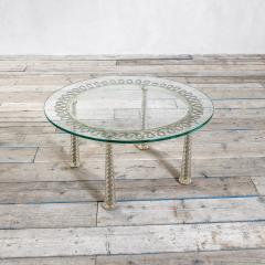 Eugenio Quarti Eugenio Quarti Coffee Table in Brass and Murano Spiral Glass 30s - 2129364