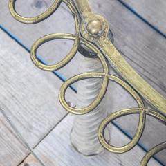 Eugenio Quarti Eugenio Quarti Coffee Table in Brass and Murano Spiral Glass 30s - 2129366