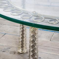 Eugenio Quarti Eugenio Quarti Coffee Table in Brass and Murano Spiral Glass 30s - 2129367