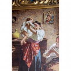 Eugenio Zampighi A Fine Italian Painting of the Baby s Bath by Eugenio Zampighi - 1434527