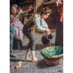 Eugenio Zampighi A Fine Italian Painting of the Baby s Bath by Eugenio Zampighi - 1434529